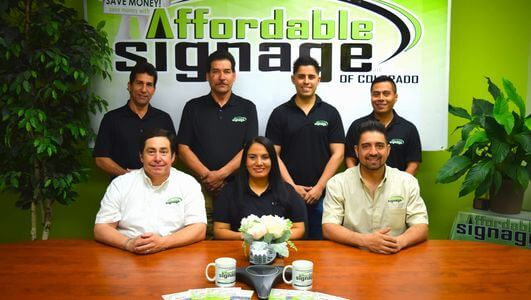 Team in Affordable Signage Colorado