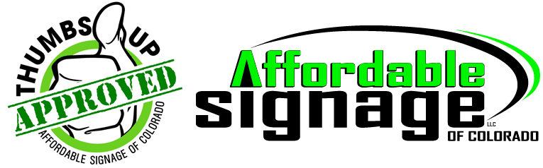 affordable signage with approved logo